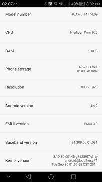 Huawei Ascend Mate 7 Android 4.4.2 KitKat
