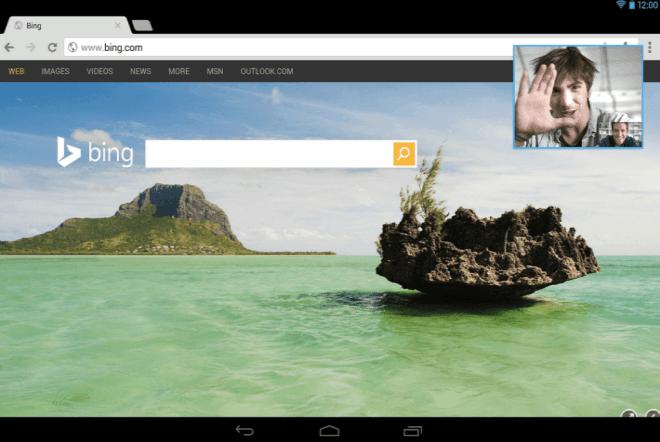 Mobilní aplikace Skype pro chytré mobilní telefony s Androidem dostává funkci obraz v obraze