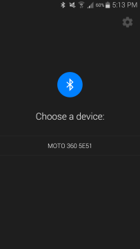 Motorola Moto 360 aplikace Android Wear 1