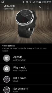 Motorola Moto 360 aplikace Android Wear 4