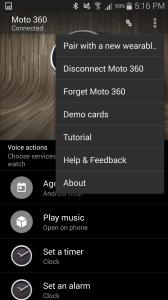 Motorola Moto 360 aplikace Android Wear 6
