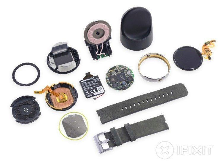 Motorola Moto 360 ifixit analýza