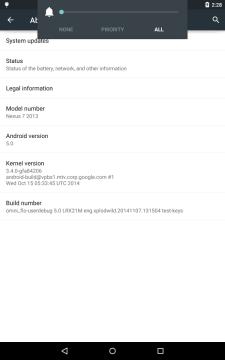 OmniROM má testovací firmware pro Nexus 7 (2013)