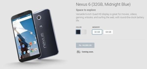 Nexus 6 dostupnost