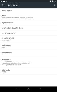 Android 5.0 na tabletu Nexus 7