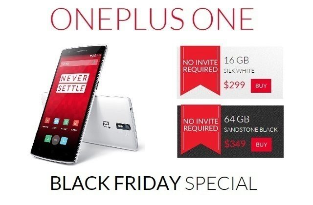 OnePlus One black friday titulka