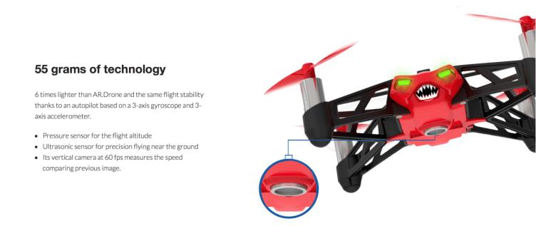 Rolling Spider je nabitý technologiemi.