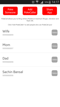PokeCall 2 android aplikace