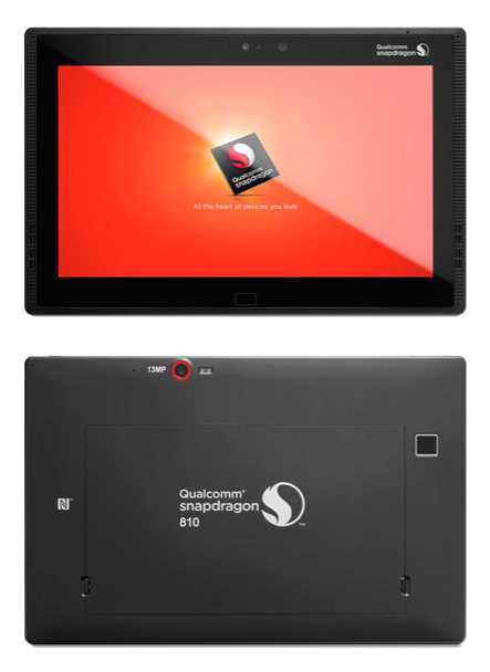 qualcomm snapdragon 810 tablet