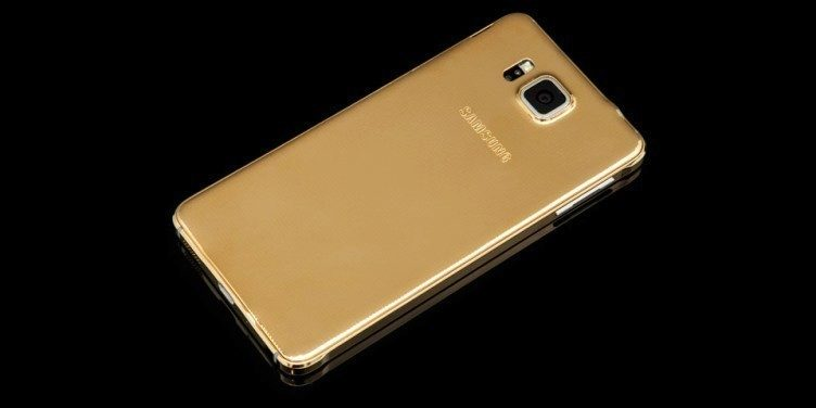 Zlatý Samsung Galaxy Alpha od Goldgenie