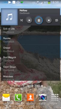 Aplikace Hudba z telefonů Samsung