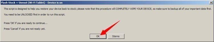 Potvrdíte odemknutý bootloader