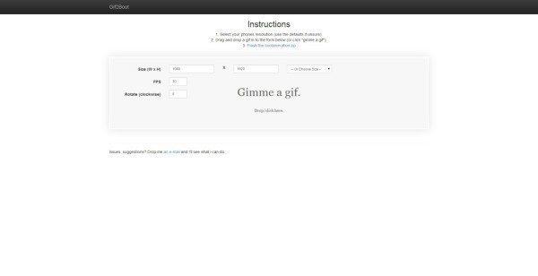 Webové stránky Gif2Boot
