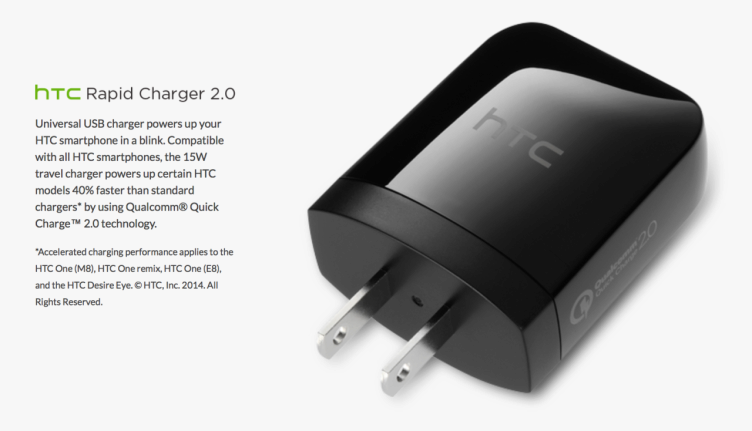 htc rapid charger quick charge