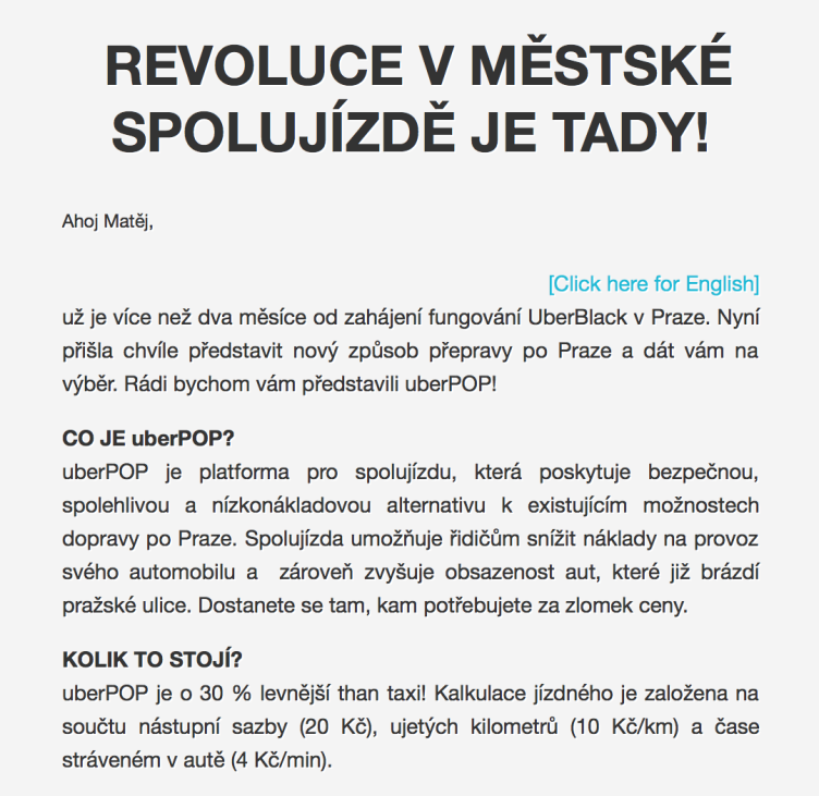 Text newsletteru.