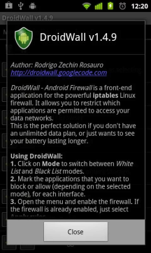 DroidWall - Android Firewall
