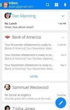 WeMail 1 android aplikace
