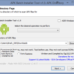APK Batch Installer – nastaveni