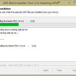 APK Batch Installer – nastaveni 3