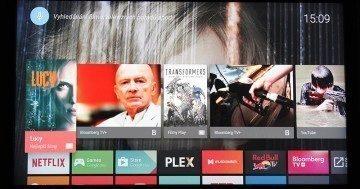 Google Nexus Player úvodní menu 1