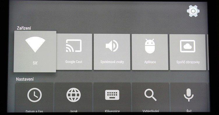 Google Nexus Player nastavení 1