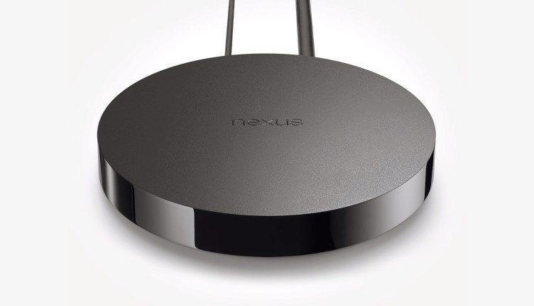 Google Nexus Player pohled zvrchu