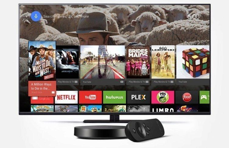 Google Nexus Player vedle televize