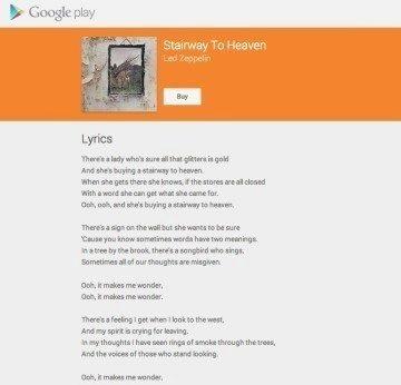 Google text písně na vyhledávači 1