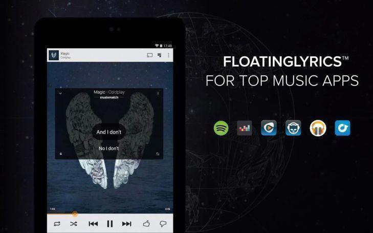 Funkce FloatingLyrics pro zobrazení textů písní i v dalších aplikacích