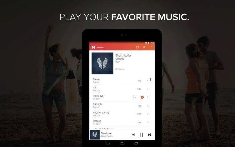MusiXmatch je v první řadě hudební přehrávač