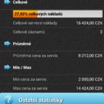 Servisní statistiky