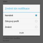 Změnit tón notifikace