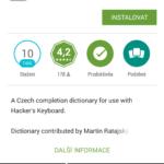 Stažení českého slovníku