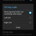 Kód při stisku klávesy Ctrl