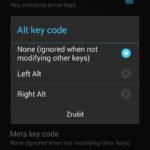 Kód při stisku klávesy Alt