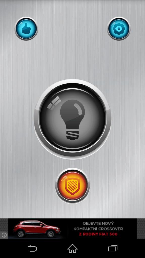 Uživatelské rozhraní Power Button FlashLight