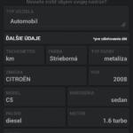 Údaje o vozidle