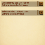 Location Based Reminder: seznam připomínek