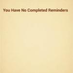 Location Based Reminder: dokončené úkoly