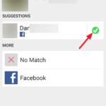 Párování kontaktů s profilem