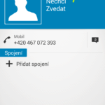 Otevřete kontakt