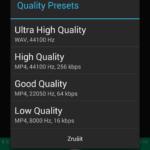 Nastavení kvality nahrávky