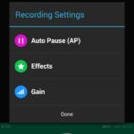 Nastavení parametrů nahrávání