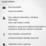 Oprávnění požadovaná aplikací Facebook Lite