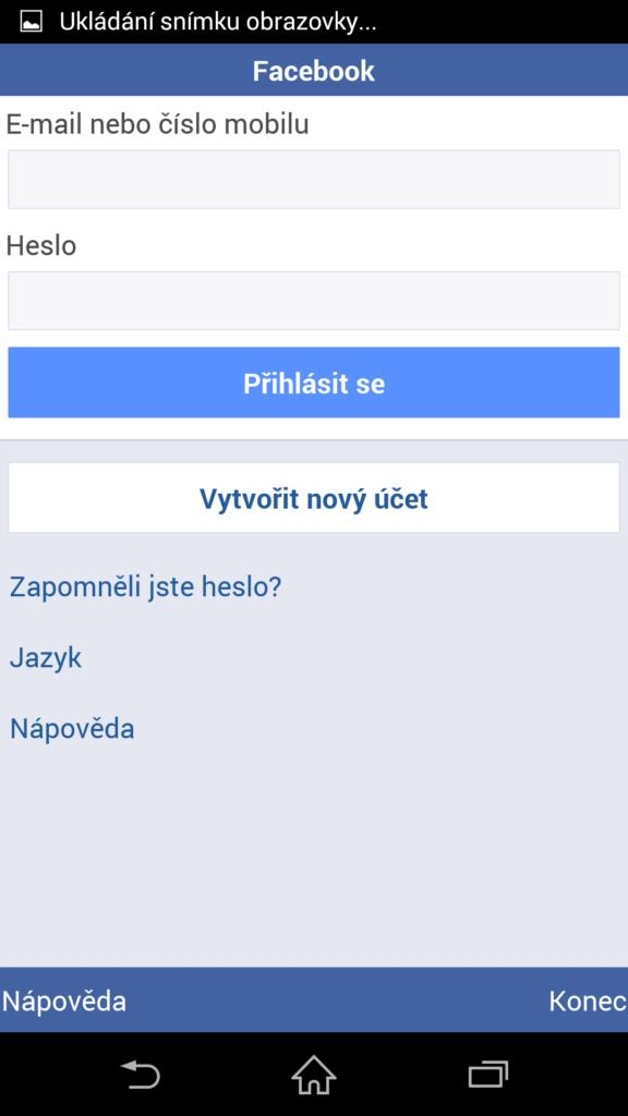 facebook přihlasit se