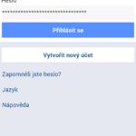 Přihlášení k Facebooku