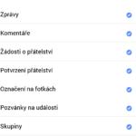 Možnosti nastavení aplikace Facebook Lite