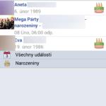 Události a narozeniny