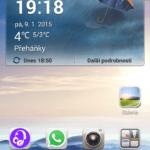 Huawei Ascend G630 uživatelské prostředí, hlavní plocha