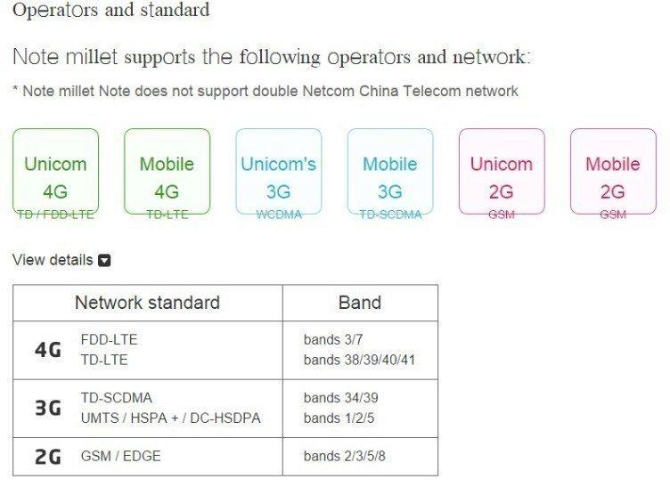 LTE Xiaomi Mi Note